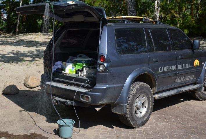 b94a397a2 Review  Chuveiro Portátil 12V Guepardo - MaCamp - Guia Camping e ...